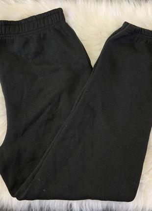 Штаны на флисе чёрные оверсайз размер л
