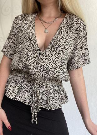 Блуза в анималистический принит / леопардовая блузка