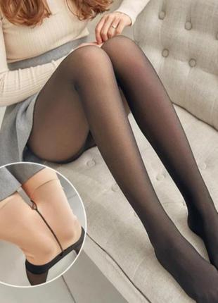 Шикарные эластичные колготы имитация кожи идеальные ножки