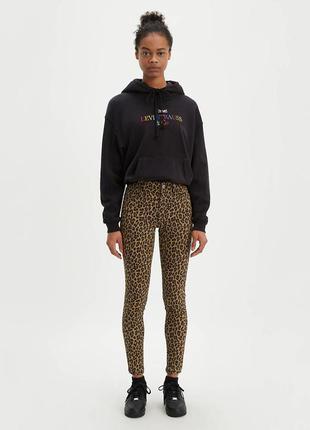 Джинсы levi's skinny леопардовый принт