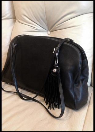 Большая кожаная сумка - 100% натуральная кожа - китица