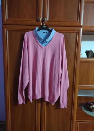 Пуловер -двойка коттоновый размер 66