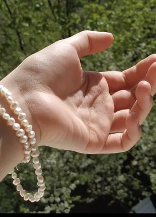 Намисто, буси жемчуг, перлини натуральні, річні