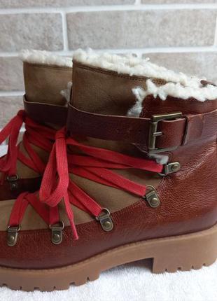 Кожанные утеплённые ботинки nine west 36р