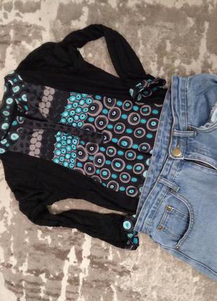 Вискозная блузка с принтом