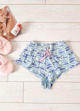 Трикотажные шорты с принтом,для сна_дома..# 245