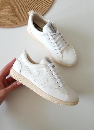 Белые брендовые кроссовки ретро модель 90х,flamingoslife, испания 36размер