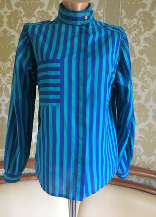 Винтажная рубашка с объемным рукавом