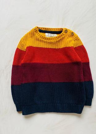 F&f стильный свитер на мальчика 9-12 мес