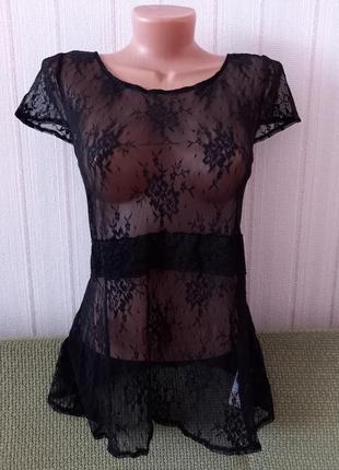 Кружевная блуза блузка