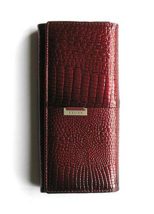Большой винный кожаный лаковый кошелек, 100% натуральная кожа, доставка бесплатно.