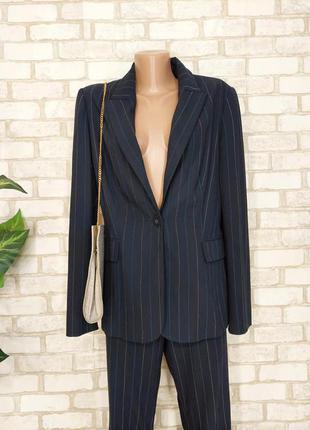 Фирменный marks & spenser стильный базовый пиджак/жакет в темно синем цвете, размер хл
