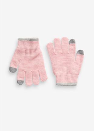 Мягенькие перчатки next для девочки 5-9 лет