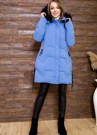 Цвет джинс шикарная куртка осень-зима демми с капюшоном- s m l 44 46 48