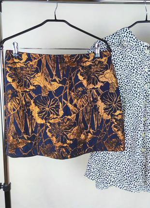Шикарная брендовая юбка river island цветы этикетка