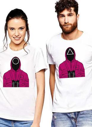 Парные футболки с принтом мерч игра в кальмара (오징어게임) squid game 2 push it