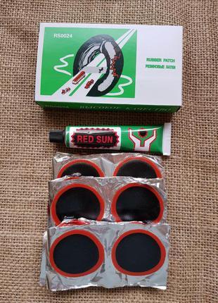 Набор вулканизированных резиновых заплаток для ремонта шин № 24