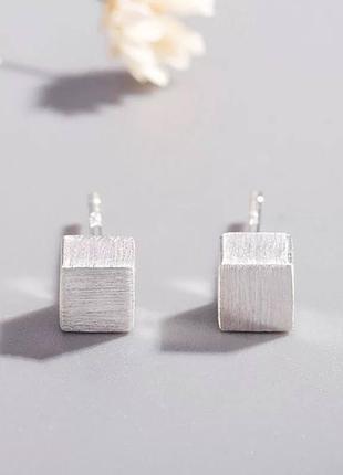Серьги мини-кубики серебро 925 / большая распродажа!
