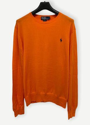 Свитер джемпер polo ralph lauren мужской оранжевий
