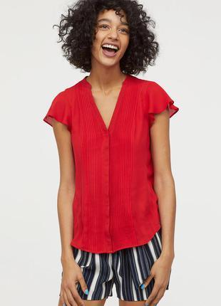 Элегантная шифоновая блуза h&m