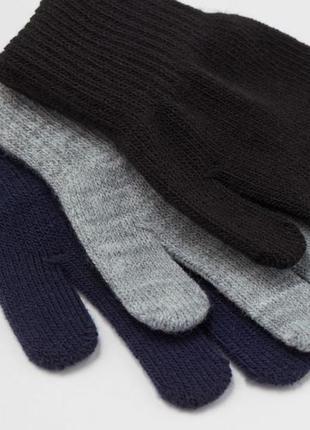 Практичный набор перчаток 3пары h&m