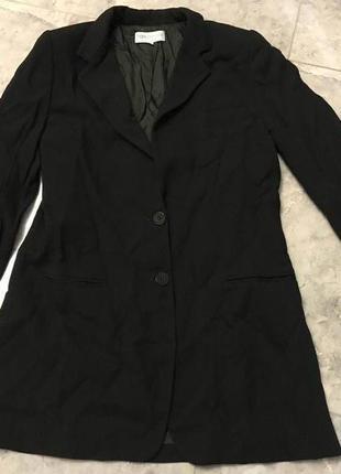 Срочная распродажа! новый черный пиджак кардиган удлиненный на осень