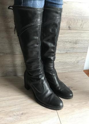 Итальянские кожаные сапоги nero giardini