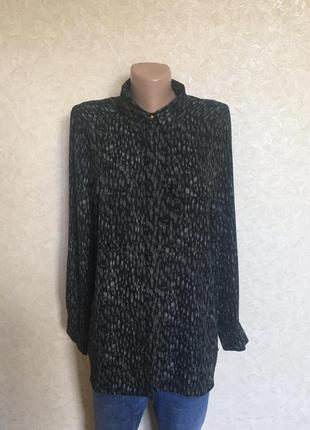Актуальная брендовая шифоновая блуза, блузка, рубашка в принт большой размер primark