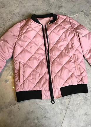 Срочная распродажа! розовая стеганая можна спортивная кежуал куртка