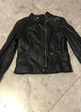 Срочная распродажа! черная короткая натуральная куртка с замками модная