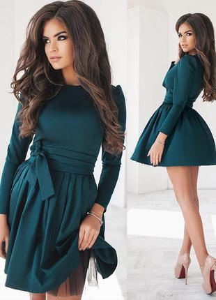 Изумрудное вечернее платье (есть размеры и расцветки)