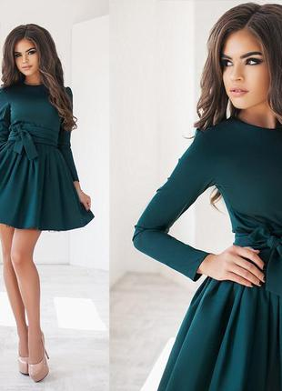 Изумрудное пышное платье {есть размеры и расцветки}2 фото