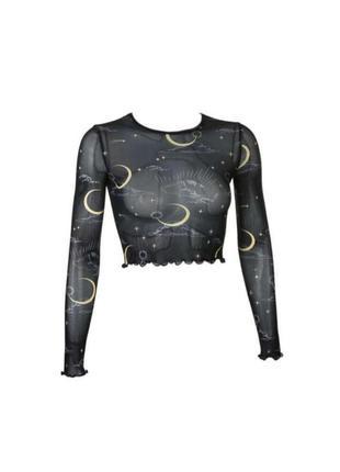 🔗прозрачная чёрная блуза мештоп блуза-сетка сетчатая блуза с солнцами