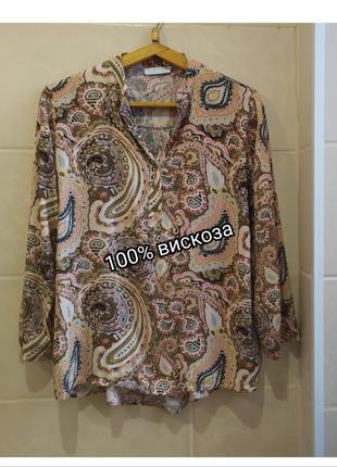 Италия блуза из натуральной ткани