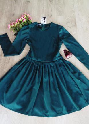 Изумрудное пышное платье {есть размеры и расцветки}3 фото