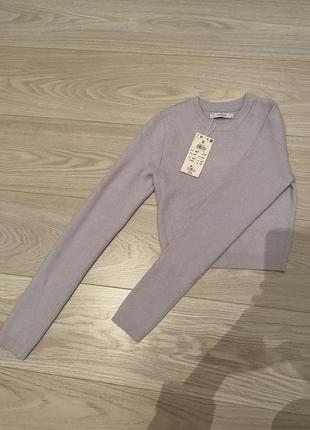 Тоненькие тёплый укороченый свитер