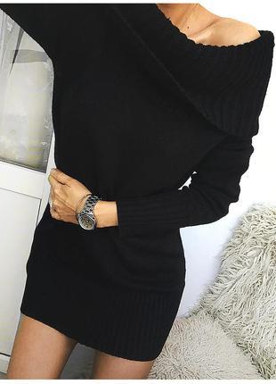 Роскошное вязаное платье со спущенными плечами от h&m
