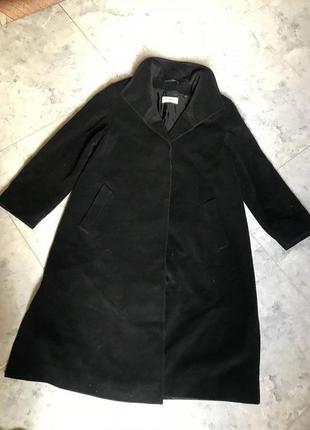Срочная распродажа! черное теплое шерстяное пальто новое прямое длинное