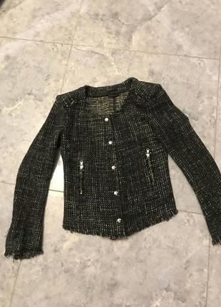 Срочная распродажа! твидовый стильный короткий пиджакоч куртка новый