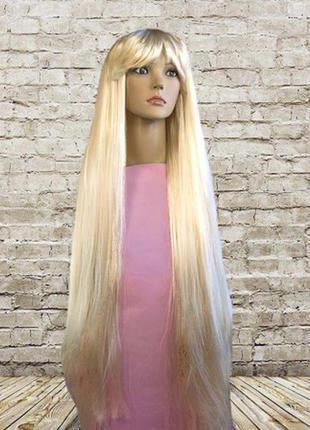 Парик призрак блонд очень длинные 90 см волосы + подарок