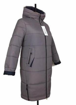 Зимняя куртка,пальто с капюшоном,увет мокко.