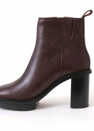 & other stories распродажа кожаные полусапожки ботинки 39,40