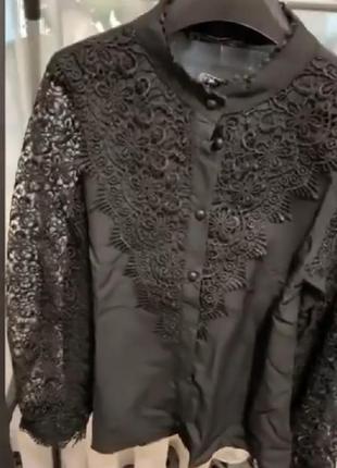 Бомбезная юлуза,рубашка,плотное кружево,пог 49.