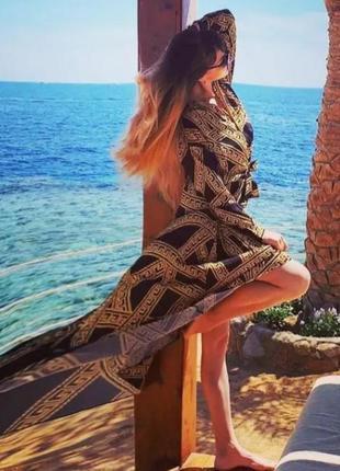 Невероятно раскошное платье, люкс качество,принт версаче,л-3 хл.