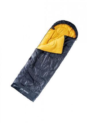 Спальный мешок черный с жёлтым