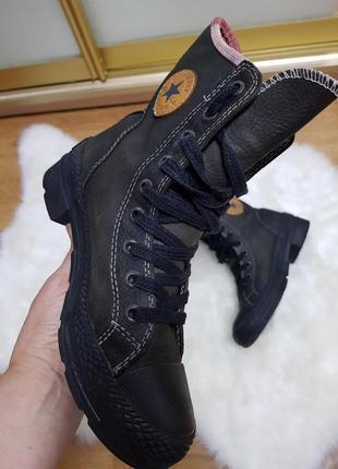 Высокие ботиночки нат.кожа