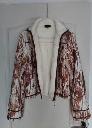 Куртка коротка жіноча дублянка женская дубленка короткая