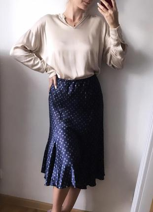 Сорочка костюм зі спідницею атлас/шовк