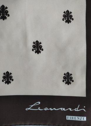 Подписной платок leonardi firenze, 78*78 см.