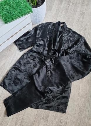 Ідеальний шовковий комплект для дому халат і штанішки